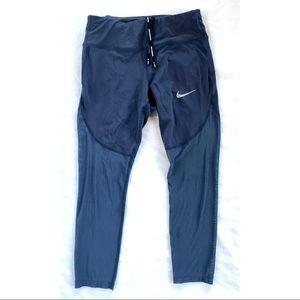 Nike run blue mesh leggings